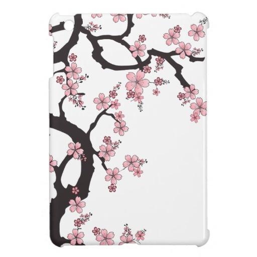 White Sakura - Japanese Design iPad mini case