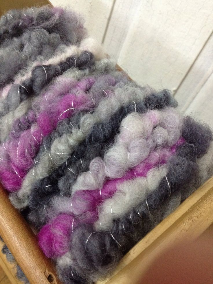 Corriedale and silver lurex thread