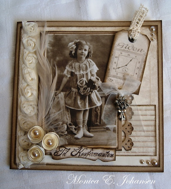 """Vintage heritage scrapbook. Previous pinner said...""""I have so many old pictures I could use""""."""