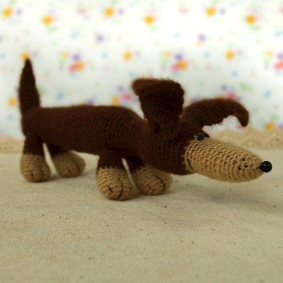 Jouet pour chien teckel brun peluche teckel par MiracleStoreRU