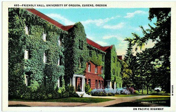 Vintage Postcard University Of Oregon Eugene Oregon Etsy California Postcard University Of Oregon Vintage Postcard