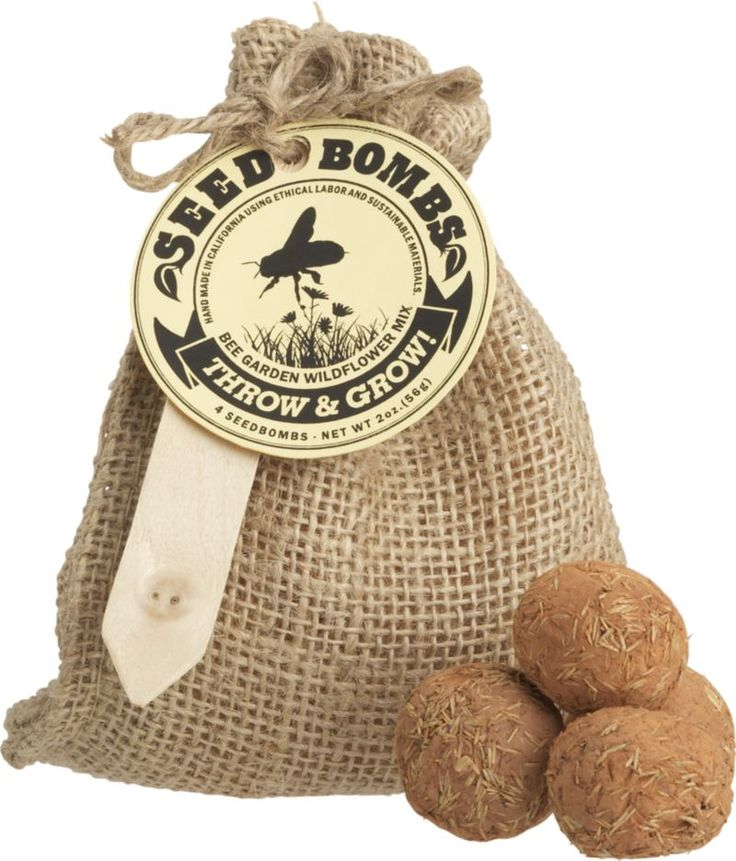 Bee Garden Seed Bombs - make my own and package in burlap bags for Xmas gifts