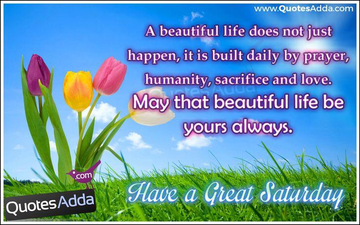 Saturday Morning Quotes & Wishes Images | Quotes Adda.com | Telugu ...