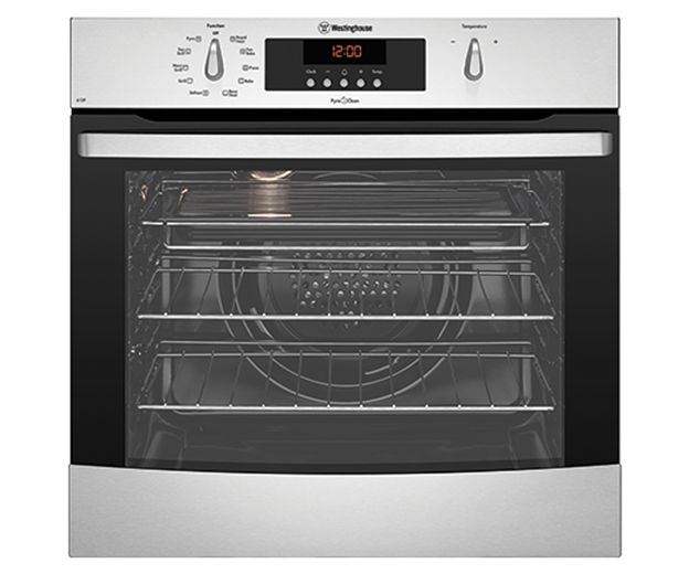 Westinghouse stainless steel multi-function PyroClean oven (model WVEP615S) for sale at L & M Gold Star (2584 Gold Coast Highway, Mermaid Beach, QLD). Don't see the Westinghouse product that you want on this board? No worries, we can order it in for you!
