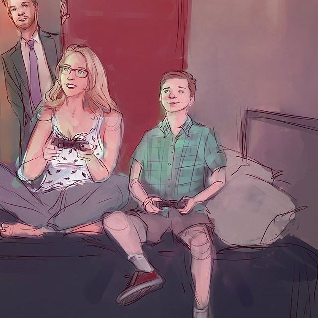 Oliver w/ Felicity and William