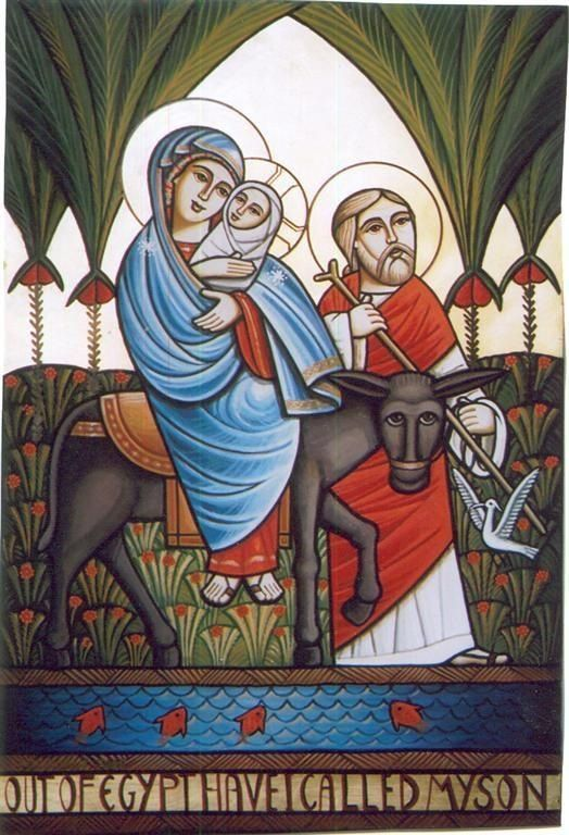 Coptic icon of The Holy Family in egypt