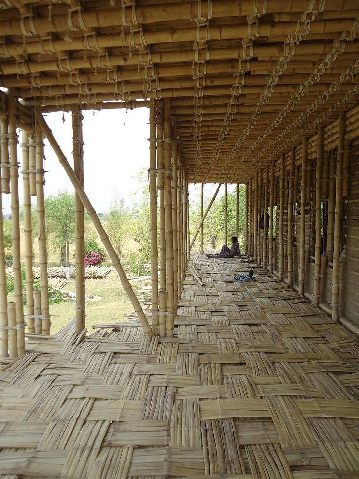 Earthen School Tipu Sultan Merkez, Jar Maulwi (Pakinstan), Roswag Architekten. #bamboo