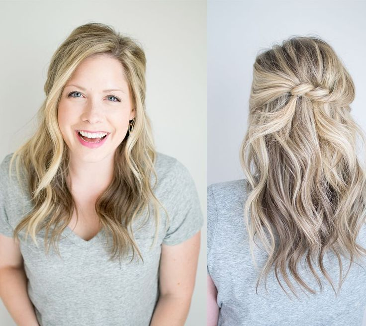 One of my favorite ways to wear my hair back is to pull it into a half knot. Simply grab hair from both sides leaving the center out tie in a knot and slip pins in to hold the knot in place! It's such an easy way to make a half up style look fresh this spring! Pair that with your @opticwhite #DesignerSmile and you are set to enjoy warmer weather! #ad by k8_smallthings