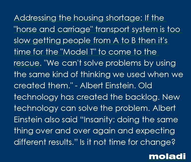 Addressing the affordable housing backlog - housing backlog #moladi www.moladi.co.za