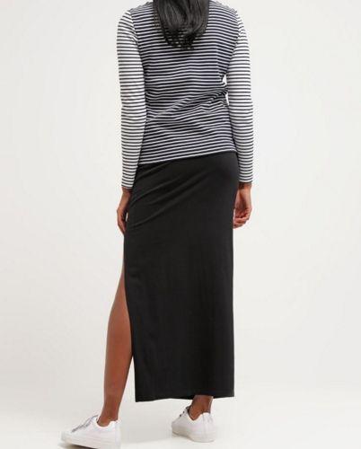 Urban Classics Długa spódnica z rozcięciem czarna black