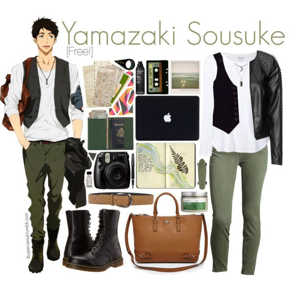 Casual cosplay of Sousuke Yamazaki (from Free! Iwatobi Swim Club or Eternal Summer anime series)-- character inspired outfit