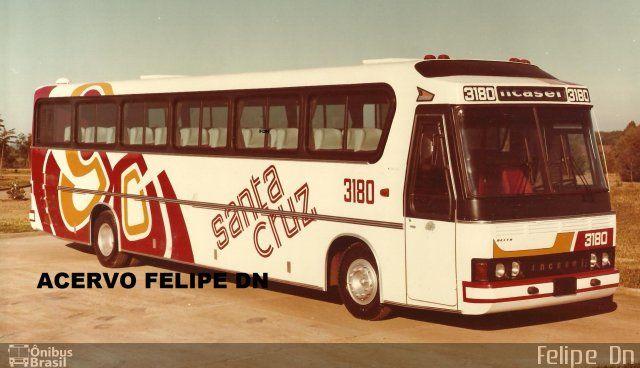 Ônibus da empresa Viação Santa Cruz, carro 3180, carroceria Incasel Delta, chassi Mercedes-Benz O-364. Foto na cidade de Erechim-RS por Felipe  Dn, publicada em 15/07/2016 05:09:01.