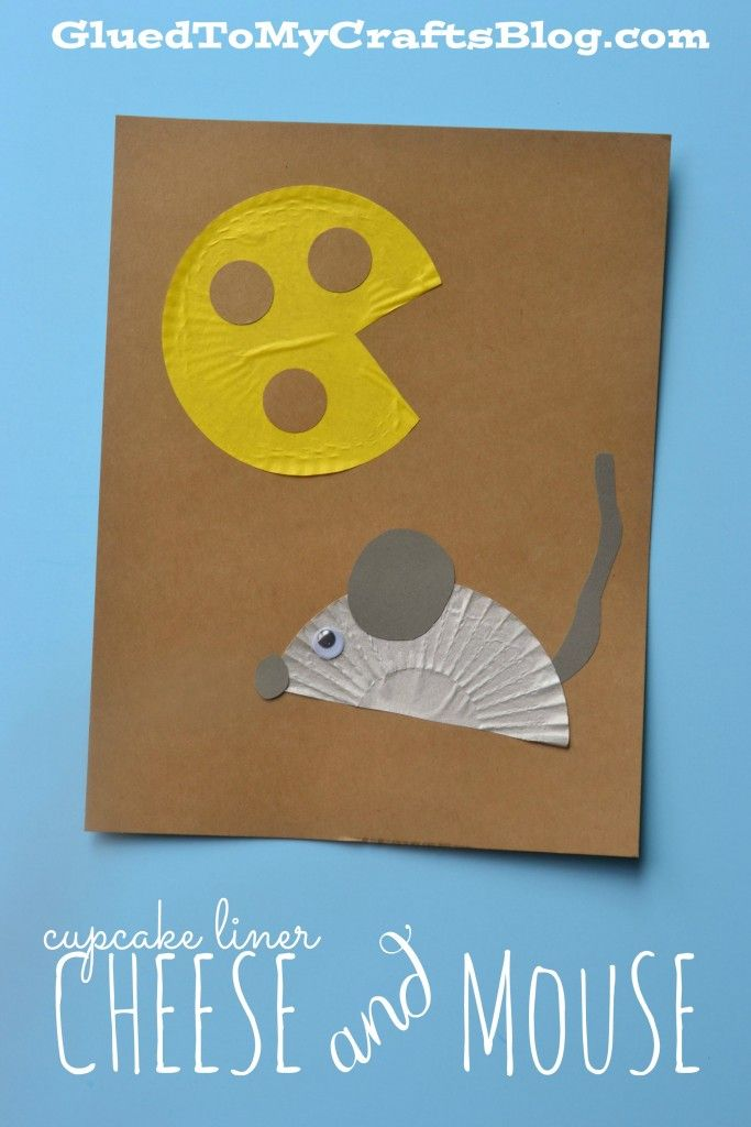 Cupcake Liner Cheese & Mouse - Kid Craft