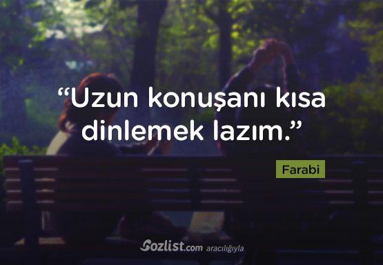 """""""Uzun konuşanı kısa dinlemek lazım."""" #farabi #sözleri #filozof #felsefe #felsefi #kitap #anlamlı #sözler"""