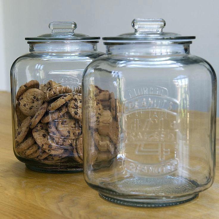 Best glass cookie jars ideas on pinterest