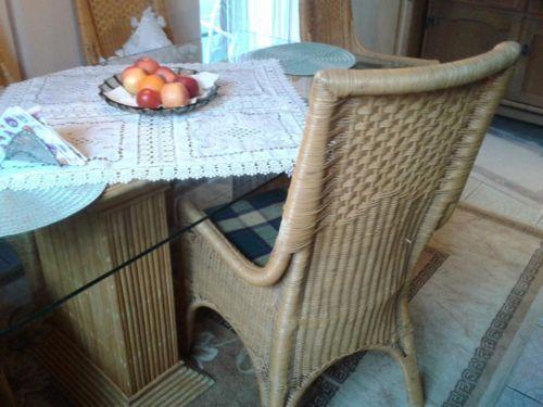 Ideal  K chentisch mit St hlen aus Bambus f r z B Wintergarten K che in Nordrhein