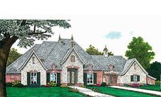 Country house plans with porte cochere with porte cochere for French country house plans with porte cochere