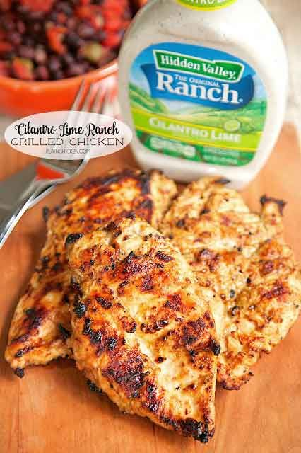 Cilantro Lime Ranch Grilled Chicken | Hidden Valley®