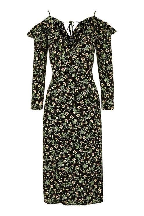 TALL Busy Garden Ruffle Dress