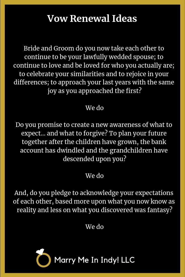 Marriage Vow Renewal Ceremony Scripts. Wedding vow