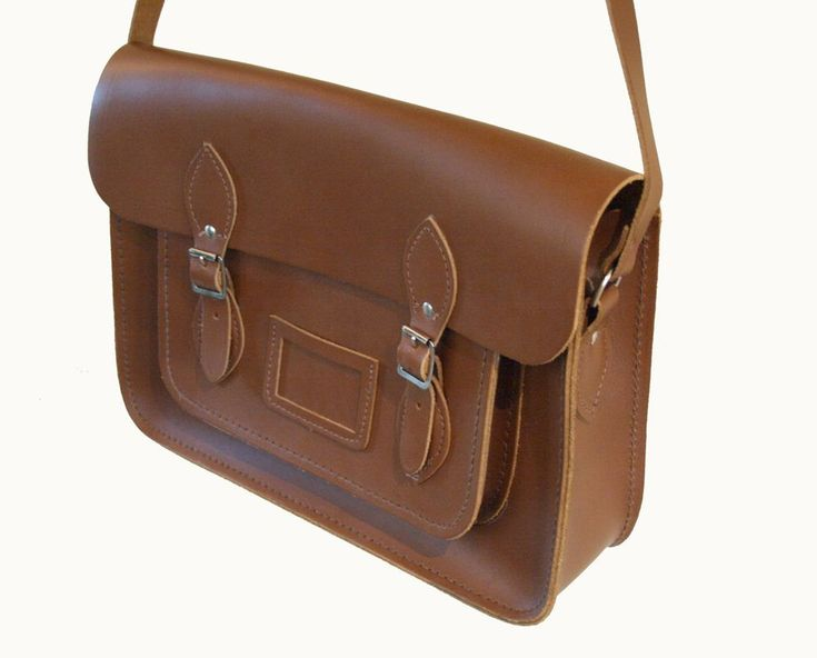 I'd love a good utilitarian leather satchel. Dark Brown. Like this one by Cambridge Satchel Company.