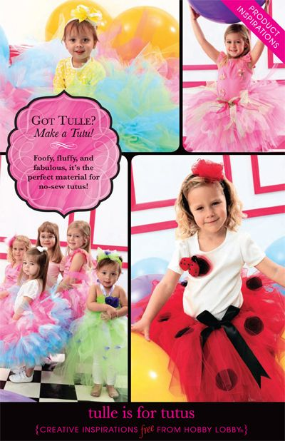 Got Tulle? Make a Tutu! Foofy, fluffy, and fabulous, it's the perfect material for no-sew tutus!