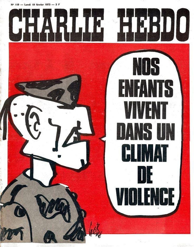 Charlie Hebdo - # 119 - 19 Février 1973 - Couverture : Gébé