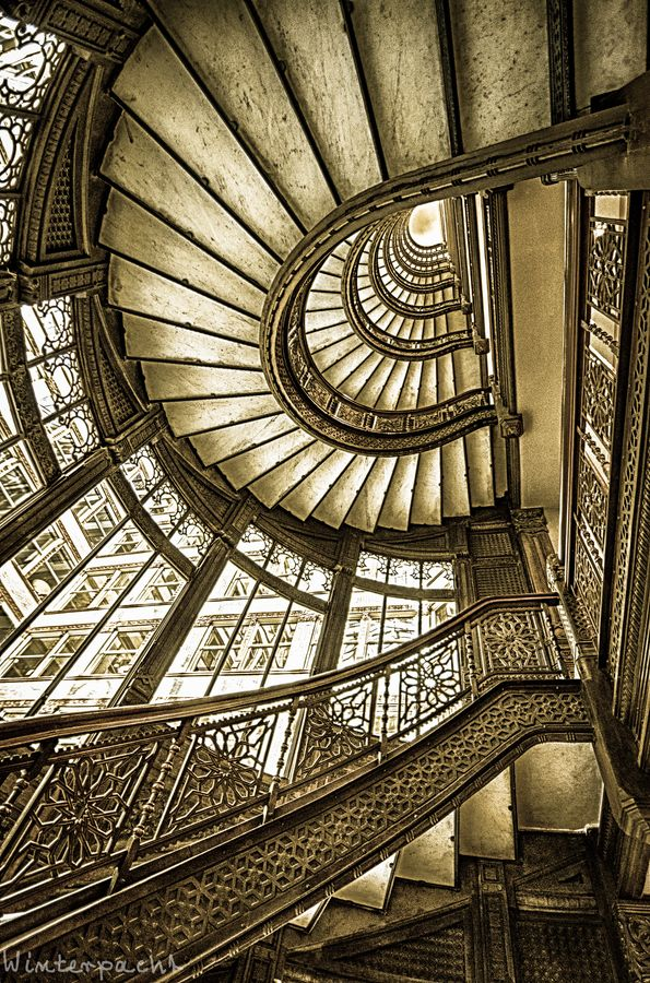 Old Rookery Staircase, Chicago, Illinois