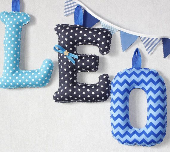 fabric single letter 10 initial baby name letters nursery wall decor