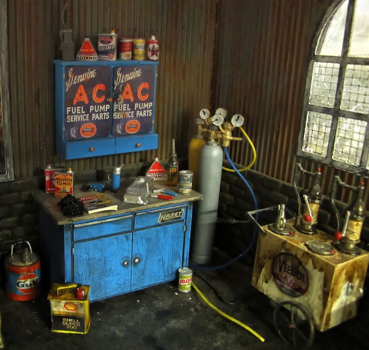 9 best 1 24 scale car dioramas images on pinterest for Garage mini 77