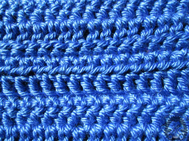 Ovaj uzorak (kombinirani štapići) radi se tako da nametnete lančić onoliko očica koliko vam je potrebno: