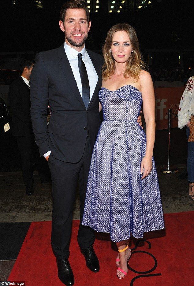 Gorgeous couple: Emily married Krasinski in 2010 and they share 19-month-old daughter Haze...