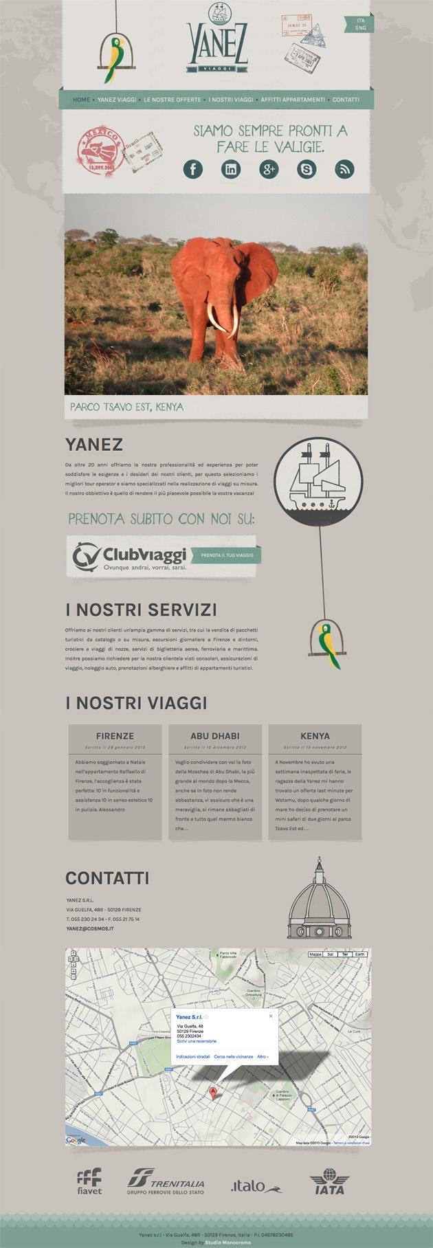sito web yanezviaggi.it