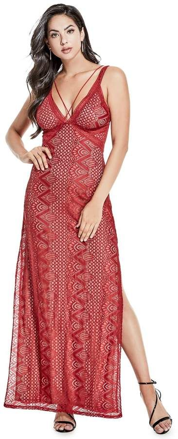 aaa4bcdd #GUESS Glacey Sleeveless Lace Maxi Dress #ShopStyle #ootd #summerfashion  #lookoftheday #currentlywearing #getthelook #ootdshare #wiwt #wiw #vsco  #fashion ...