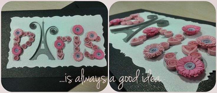 Birthday Card for my lovable team leader. Paris is always a good idea. Love, Alina Papercrafted <3