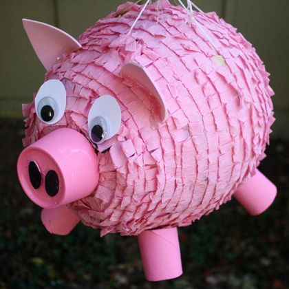 "How to make your own pinata.  (This one specific makes me want to create a ""flying pig"" themed one.  LOL)"