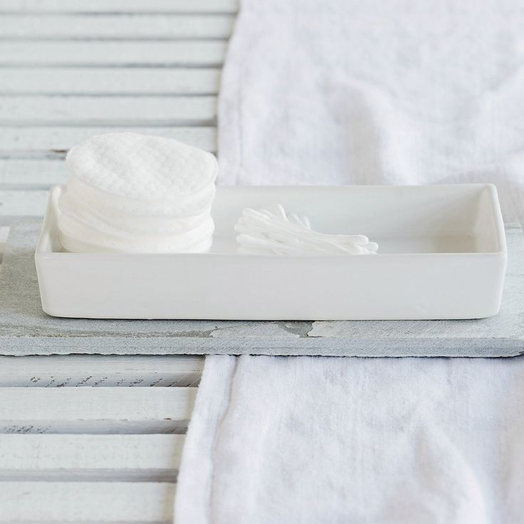 Newcombe Ceramic Rectangular Tray | Newcombe Ceramics | Home Collections | The White Company UK