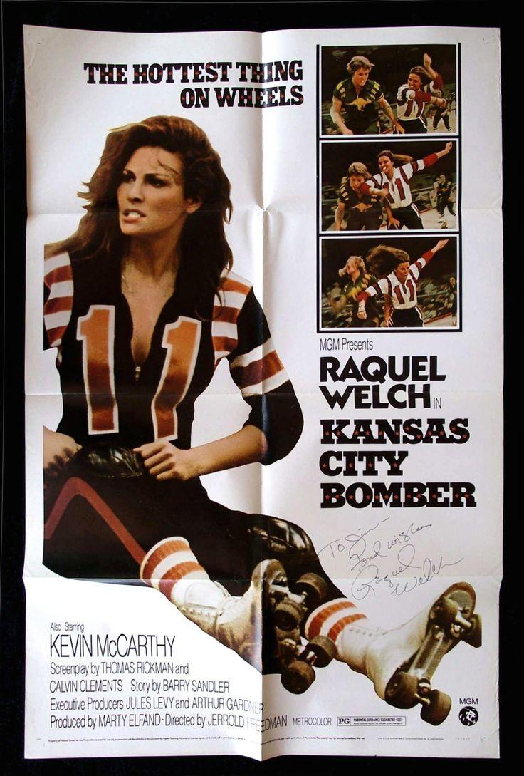 Roller skates kansas city - Kansas City Bomber Signed Autographed Movie Poster Raquel Welch Roller Derby Ebay