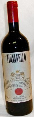 a bottle of Super Tuscan Wine Antinori Tignanello from 1983