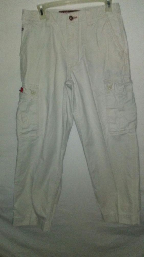 Retro Tommy Hilfiger Khaki Carpenter Mens Pants Size 30 Dated 07/02 #TommyHilfiger #Carpenter