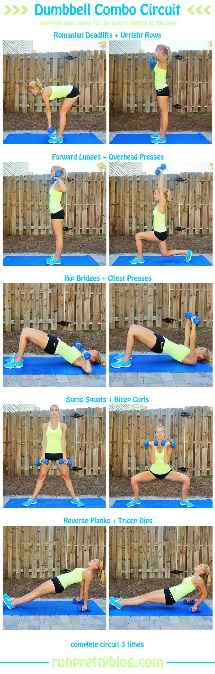 322 Best Exercise Images On Pinterest Workouts Full Body Circuit Workout With Weights 5 Incredible At Home Arm Workoutcircuit Exercisesfitness