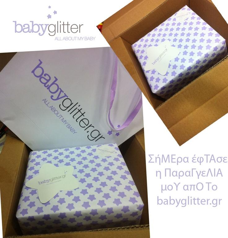Η παραγγελία μου από το babyglitter.gr έφτασε!    http://babyglitter.gr/