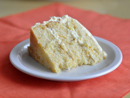 Mandarin Orange Cake with Pineapple Whipped Cream Frosting