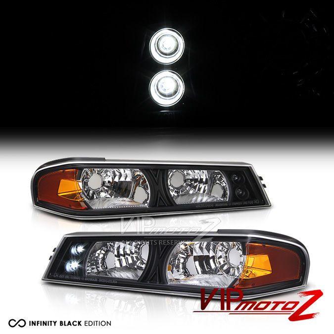 L+R Black/Amber Corner Bumper Parking Light Signal Lamp 04-2012 CHevy Colorado #VIPMOTOZ