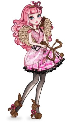 C.A. Cupid from Ever After High. Isn't she also a character from Monster High in Why Do Ghouls Fall In Love? She also is in the background in pretty much every Monster High movie too