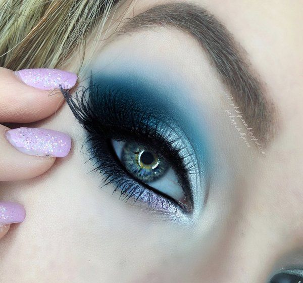 Frosted Blue Smokey Eye: Cancer, Zodiac Series .beautylish.com