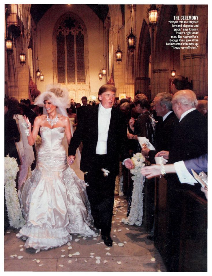 Celebrity Bride Guide | Melania Knauss and Donald Trump Wedding Celebrity Bride Guide