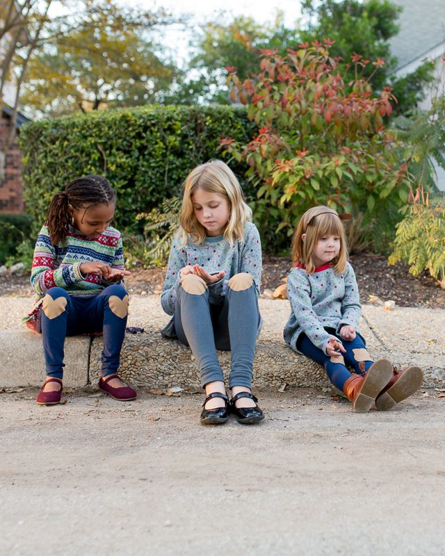 Stitched Together: The Mini Briar Top and Mini Virginia Leggings... Times Three