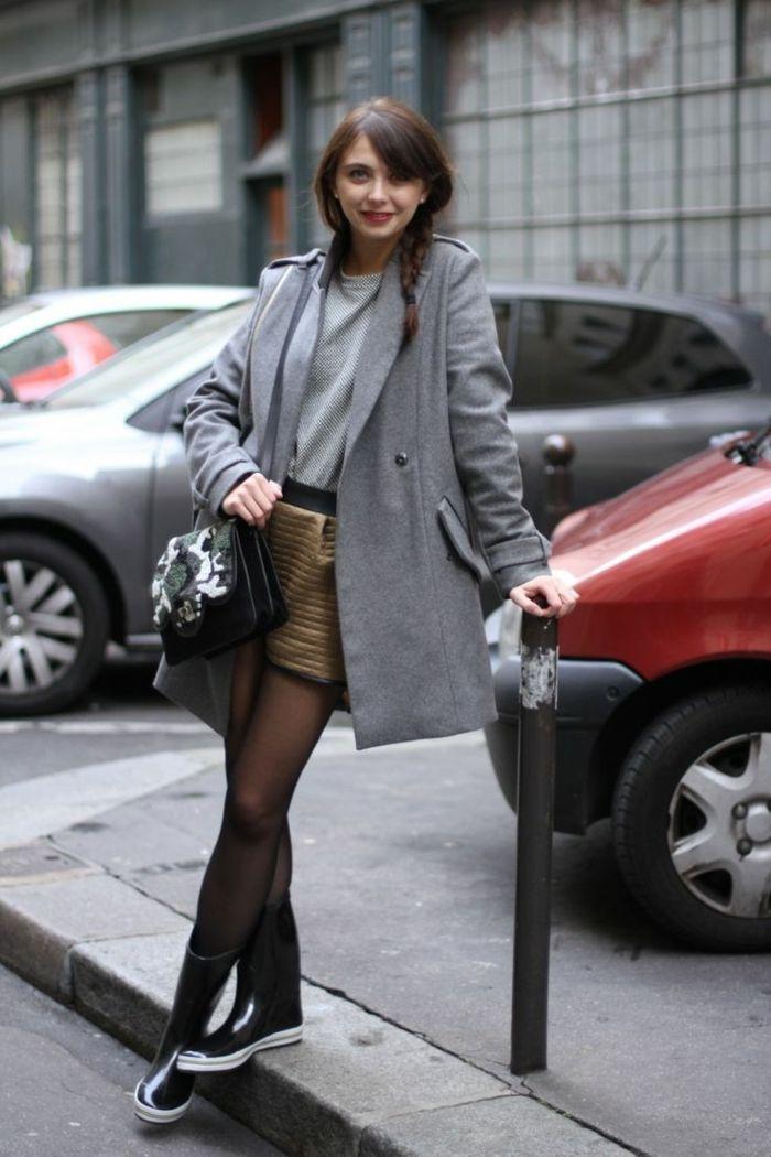 Des bottes de pluie femme bottes originales tenue hiver