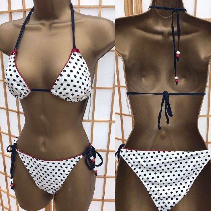 Pull & Bear Bikini Medium Top Large Bottoms (12 14) BNWT Spotty Polka Dot 336